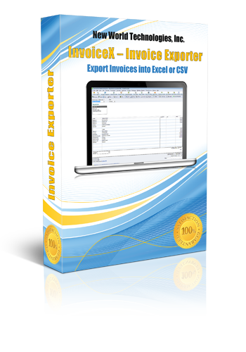 Export QuickBooks Invoices New World Technologies - How to export invoices from quickbooks to excel for service business
